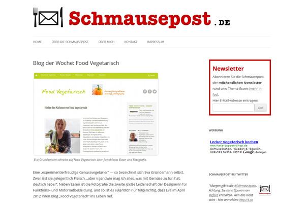 Food Vegetarisch Blog der Woche bei Schmausepost