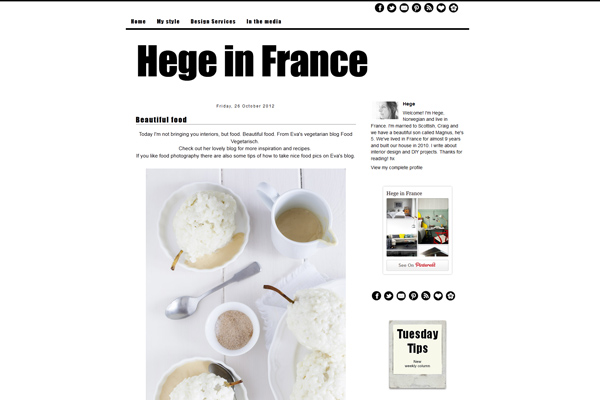 Food Vegetarisch bei Hege in France