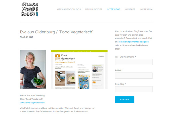 Food Vegetarisch bei German Food Blogs