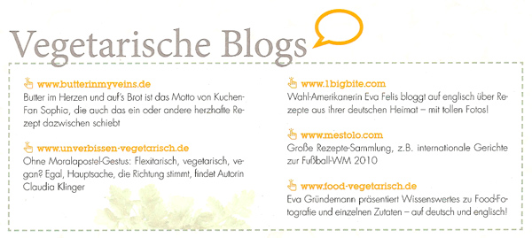 "Food Vegetarisch in ""Die Bioküche"""