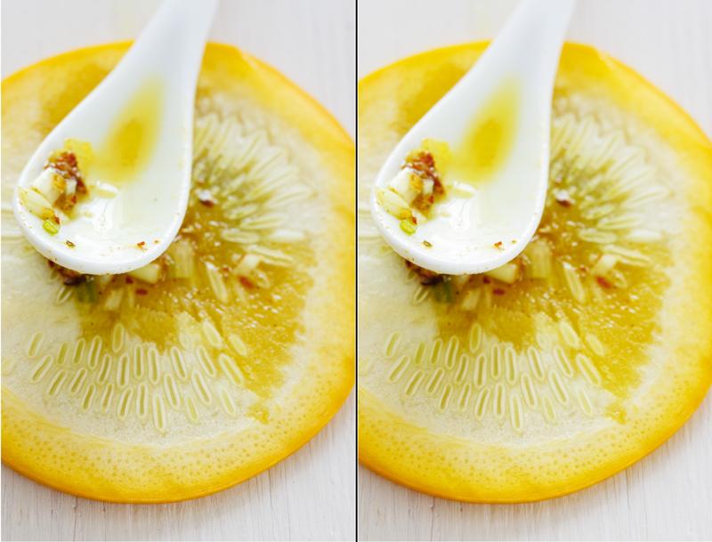 Zehnter Schritt bei digitaler Bildbearbeitung von Food Fotografie.