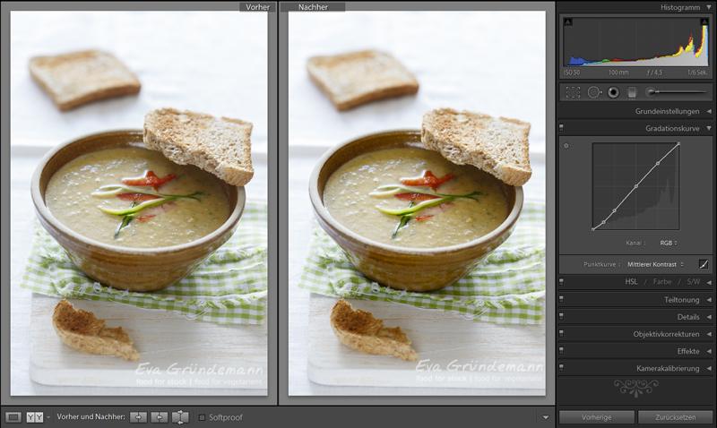 Dritter Schritt bei digitaler Bildbearbeitung von Food Fotografie.