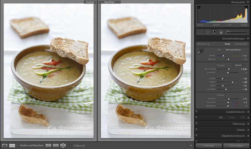 Vierter Schritt bei digitaler Bildbearbeitung von Food Fotografie.