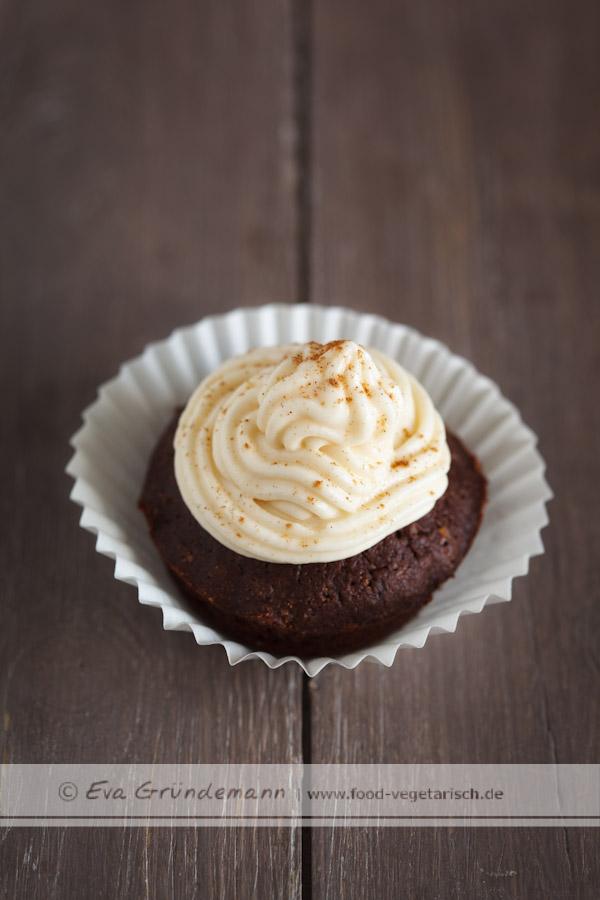 Schoko Cupcakes mit Karamell-Frosting