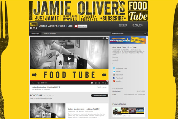 Jamie Olivers FOOD Tube