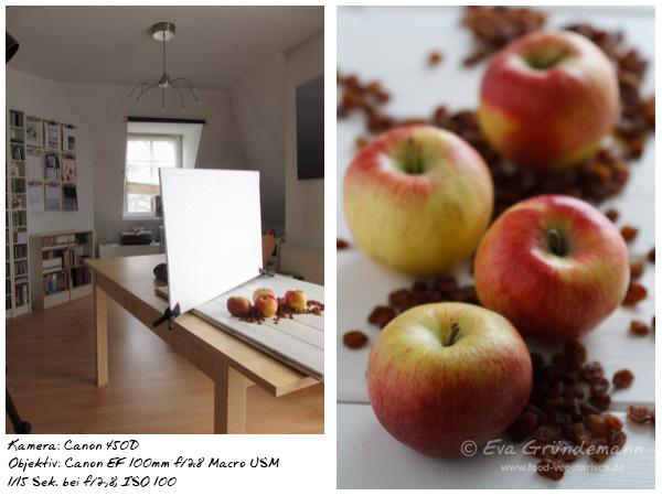 Foodfotografie mit 450D und 100 mm Objektiv