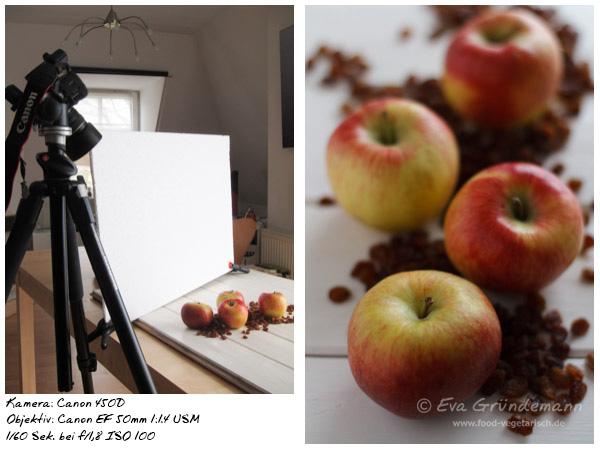 Foodfotografie mit 450D und 50 mm Objektiv