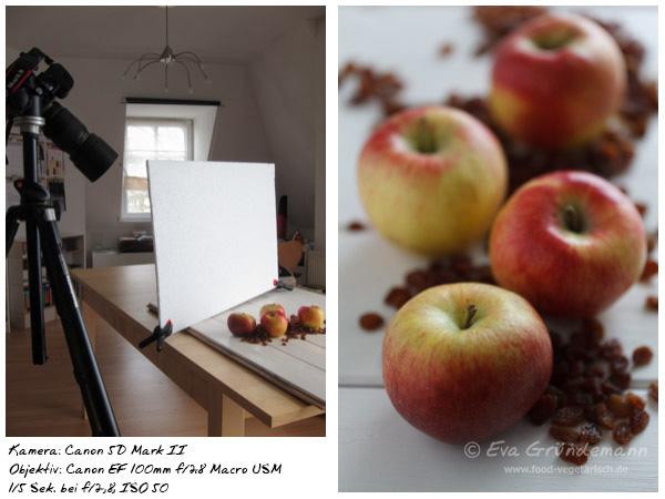 Foodfotografie mit 5D Mark II und 100 mm Objektiv