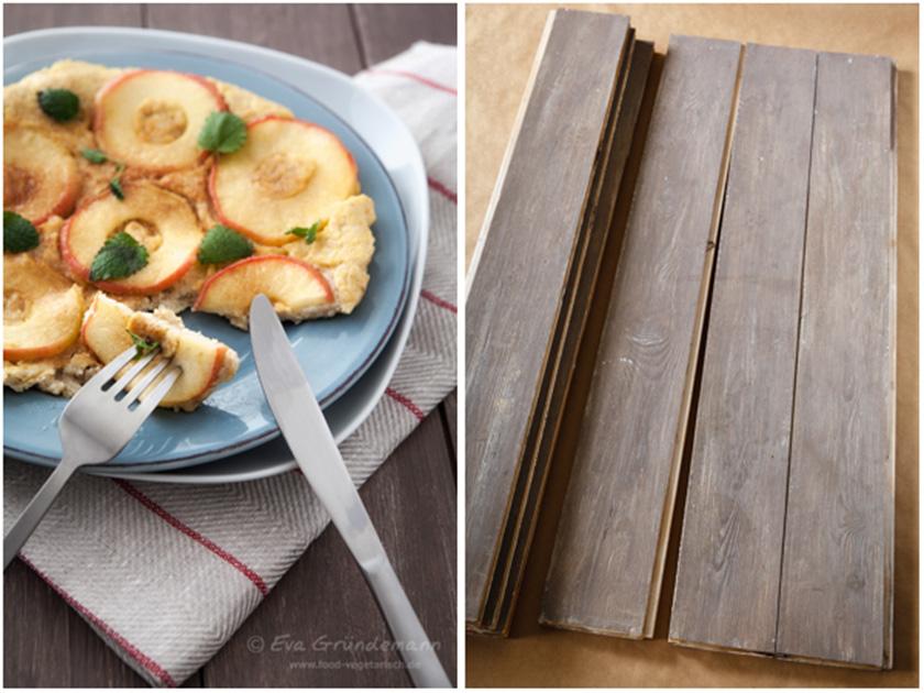 Braune Holzbretter als Untergrund für Food-Fotografie