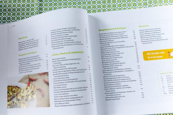 Inhalt von Grünes Eiweiß | Buchrezension auf food-vegetarisch.de