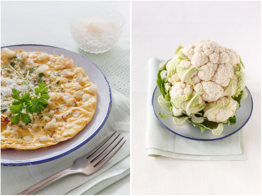Rezept für Blumenkohl Omelett | food-vegetarisch.de