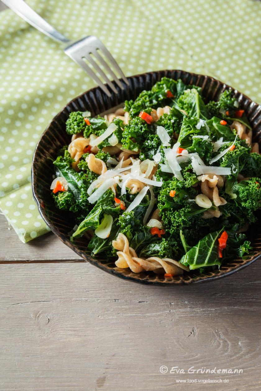 Rezept für Grünkohl Pasta | food-vegetarisch.de