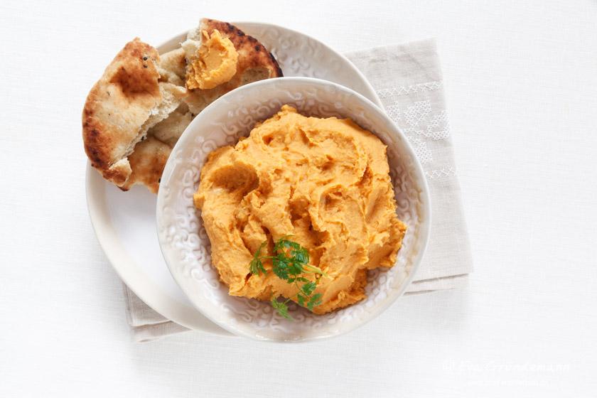 Sweet Potato Hummus| Süßkartoffel Hummus | food-vegetarisch.de