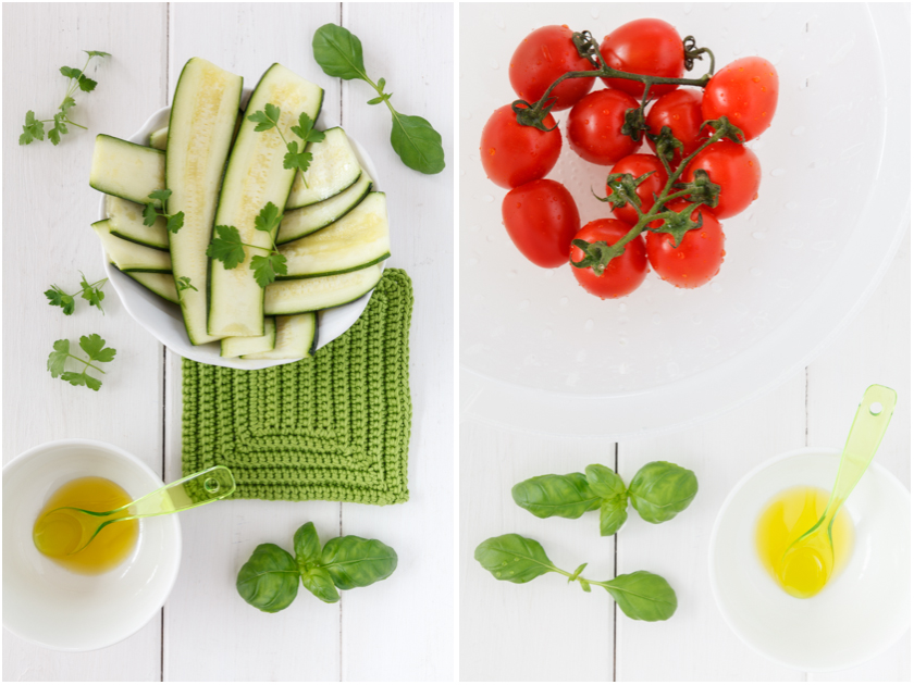 Zucchini and Tomatoes | Zucchini und Tomaten | food-vegetarisch.de