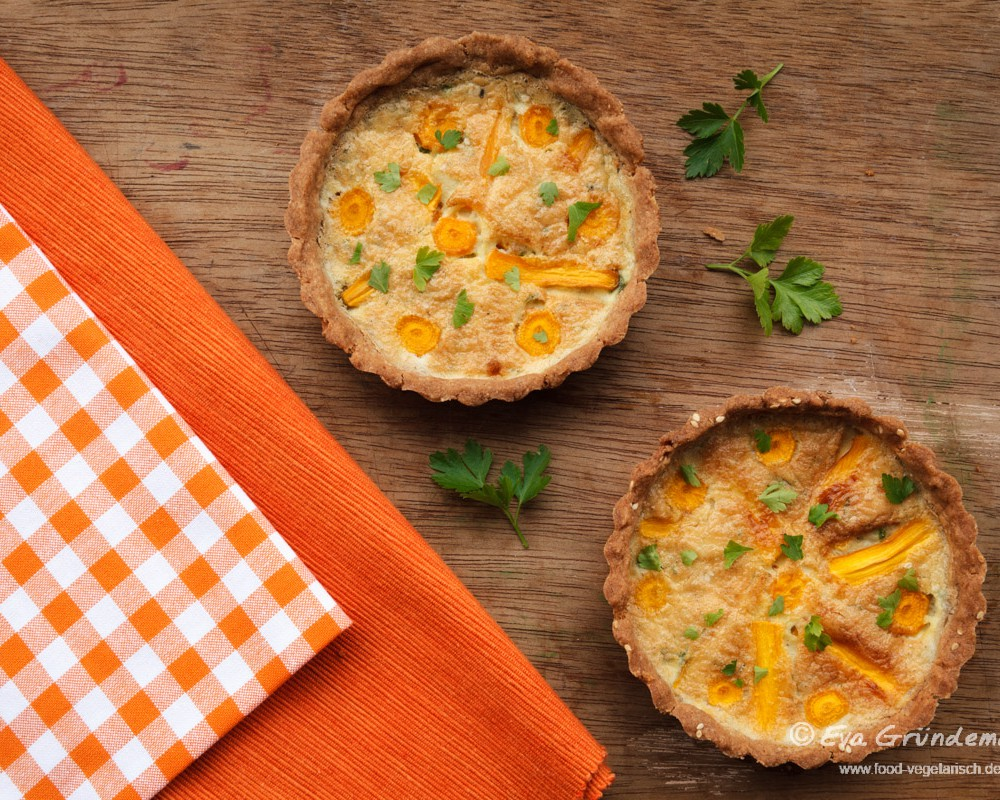 Glutenfrei Backen: Karotten-Buchweizen-Tarte | food-vegetarisch.de