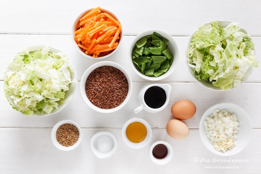 Zutaten Wok Gemüse Rezept mit Reis | food-vegetarisch.de