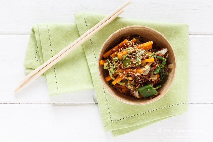 Wok Gemüse Rezept mit Reis | food-vegetarisch.de