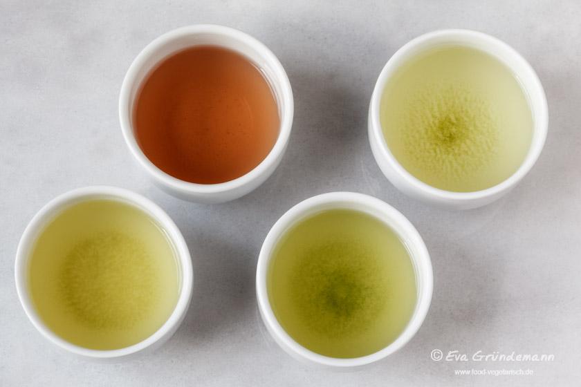Grüner Tee | Übersicht über verschiedene Sorten Grüntee | food-vegetarisch.de