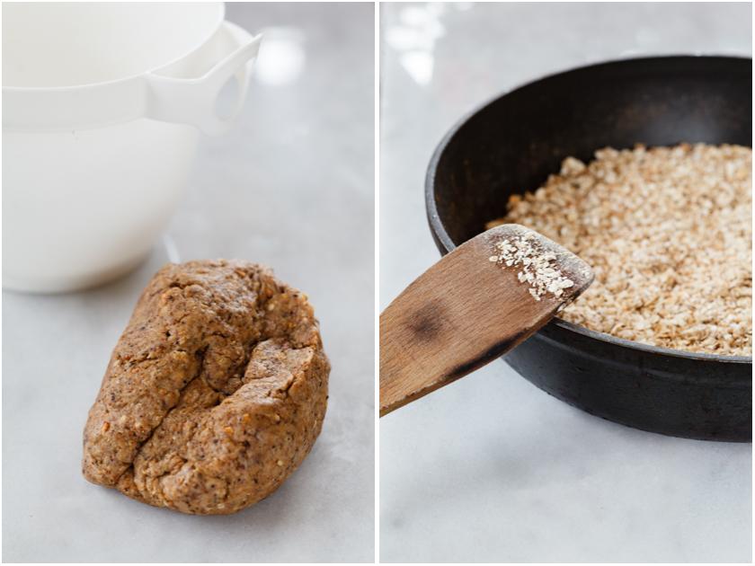 Preparing oatmeal scones | Zubereitung von Haferflocken Scones | food-vegetarisch.de