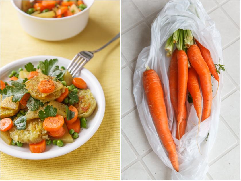 Gemüsepfanne mit Thüringer Klößen | food-vegetarisch.de