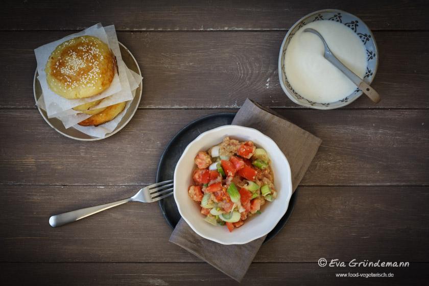 Aloo Tikki mit Limetten Joghurt