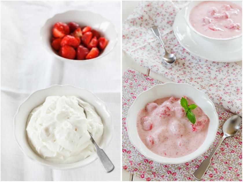 Rezept für Erdbeerquark | food-vegetarisch.de