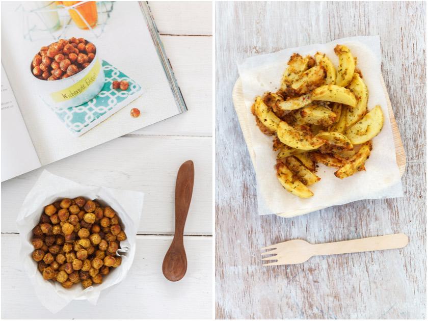 Geröstete Kichererbsen und Kartoffelspalten | food-vegetarisch.de