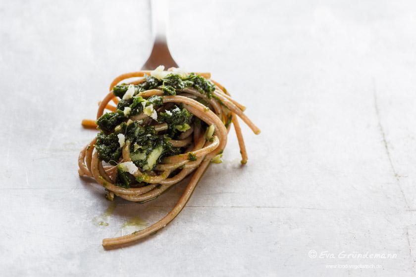 Bärlauch Würzpaste mit Pasta | food-vegetarisch.de