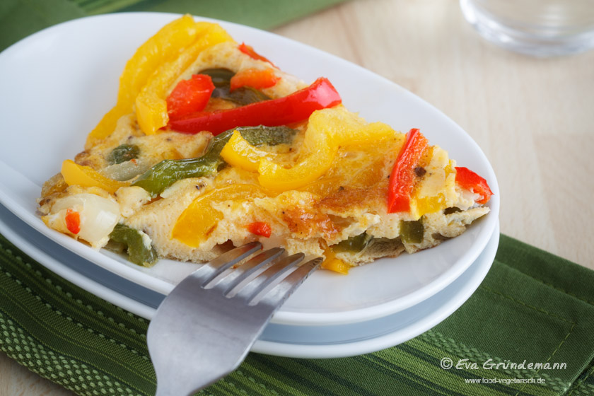 Paprika-Tortilla | food-vegetarisch.de