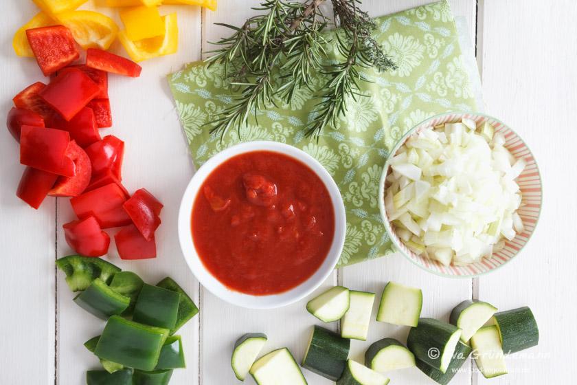Zutaten für Ratatoille im Glas | food-vegetarisch.de