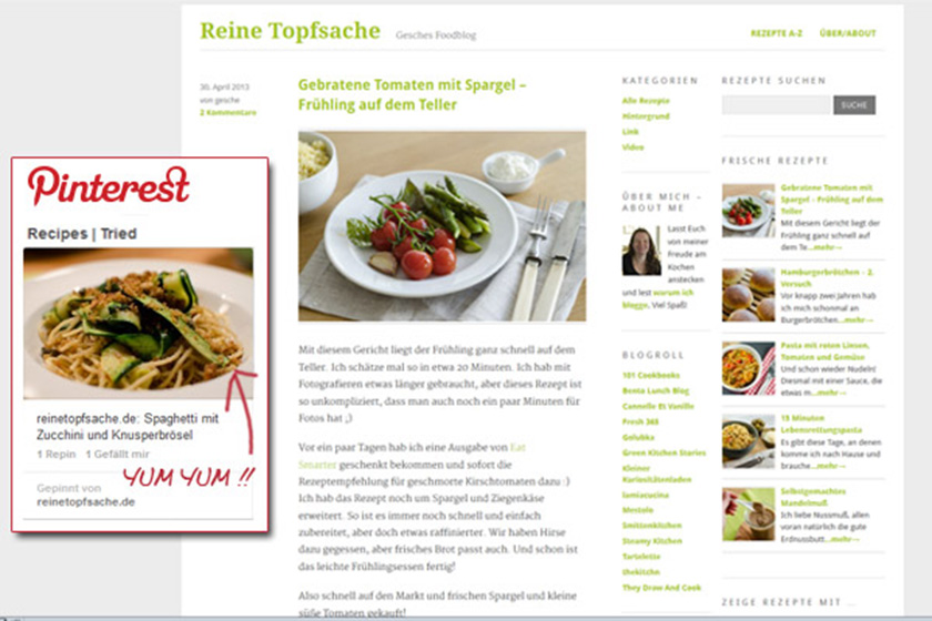 Food-Blog Reine Topfsache | food-vegetarisch.de