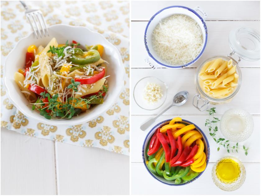 Rigatoni mit Paprika und Thymian | food-vegetarisch.de