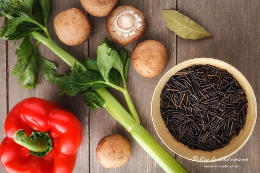 Zutaten für Wildreissuppe | food-vegetarisch.de