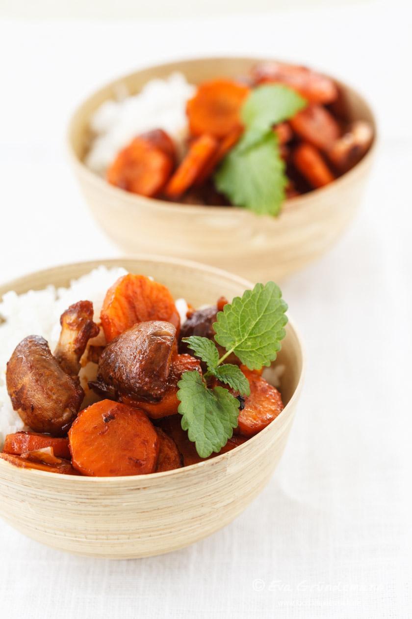 Kokos-Reis mit gebratenem Gemüse | food-vegetarisch.de