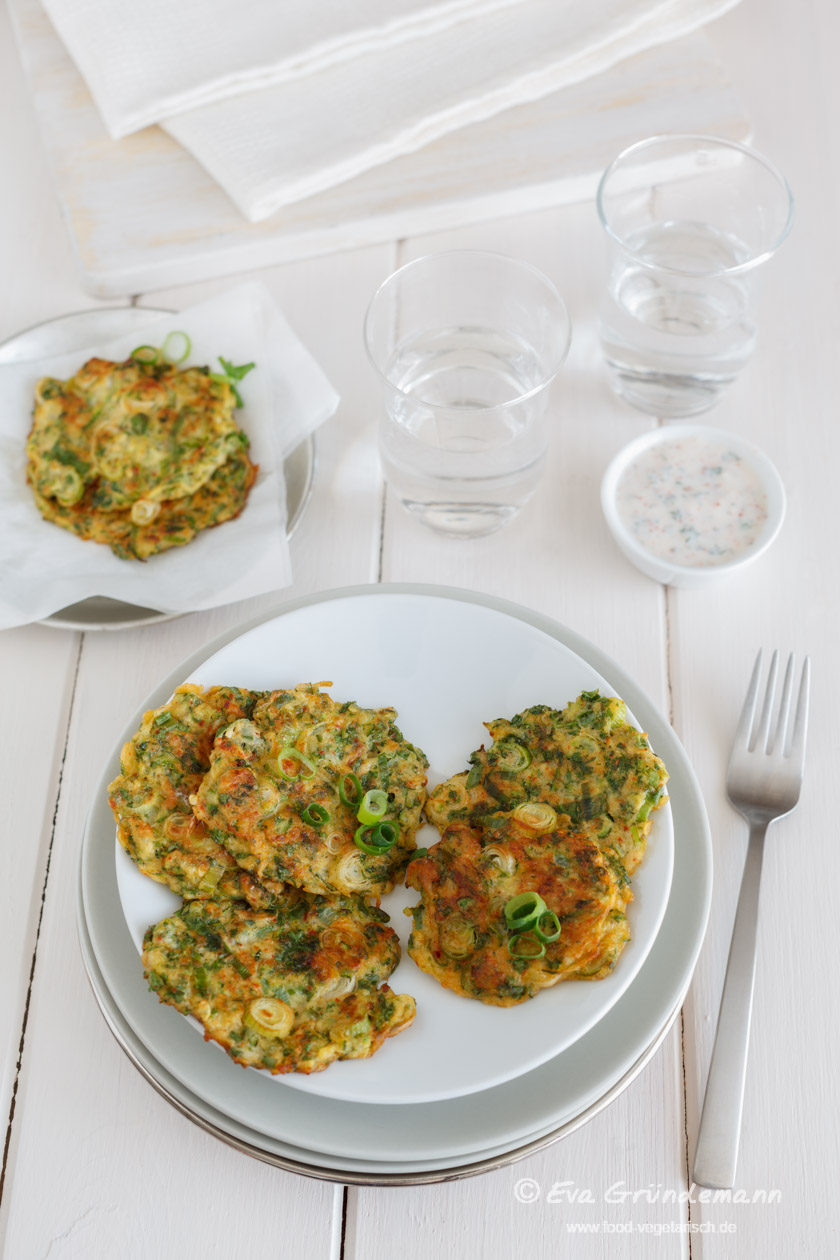 Turkish Zucchini Fritters with Yoghurt || FOOD VEGETARISCH