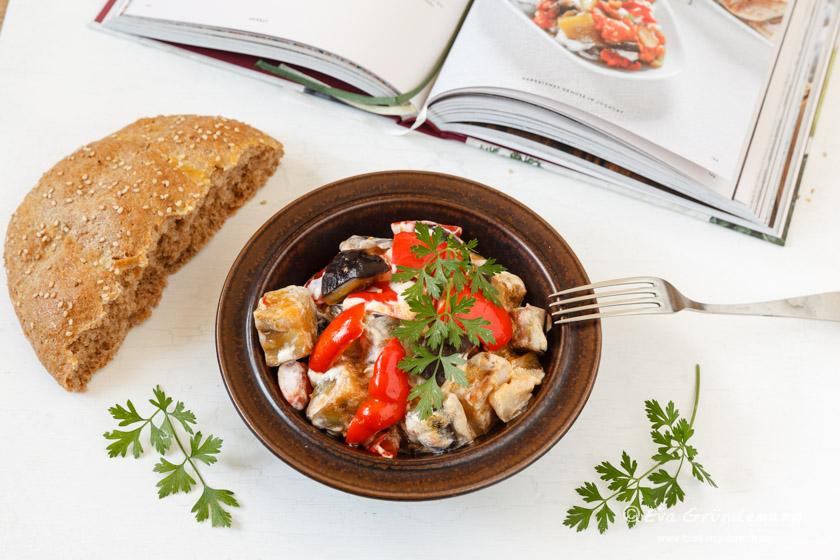 Gebratenes Gemüse in Joghurt | Köpoğlu salatasi