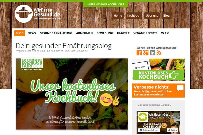 WirEssenGesund.de vorgestellt von FOOD VEGETARISCH