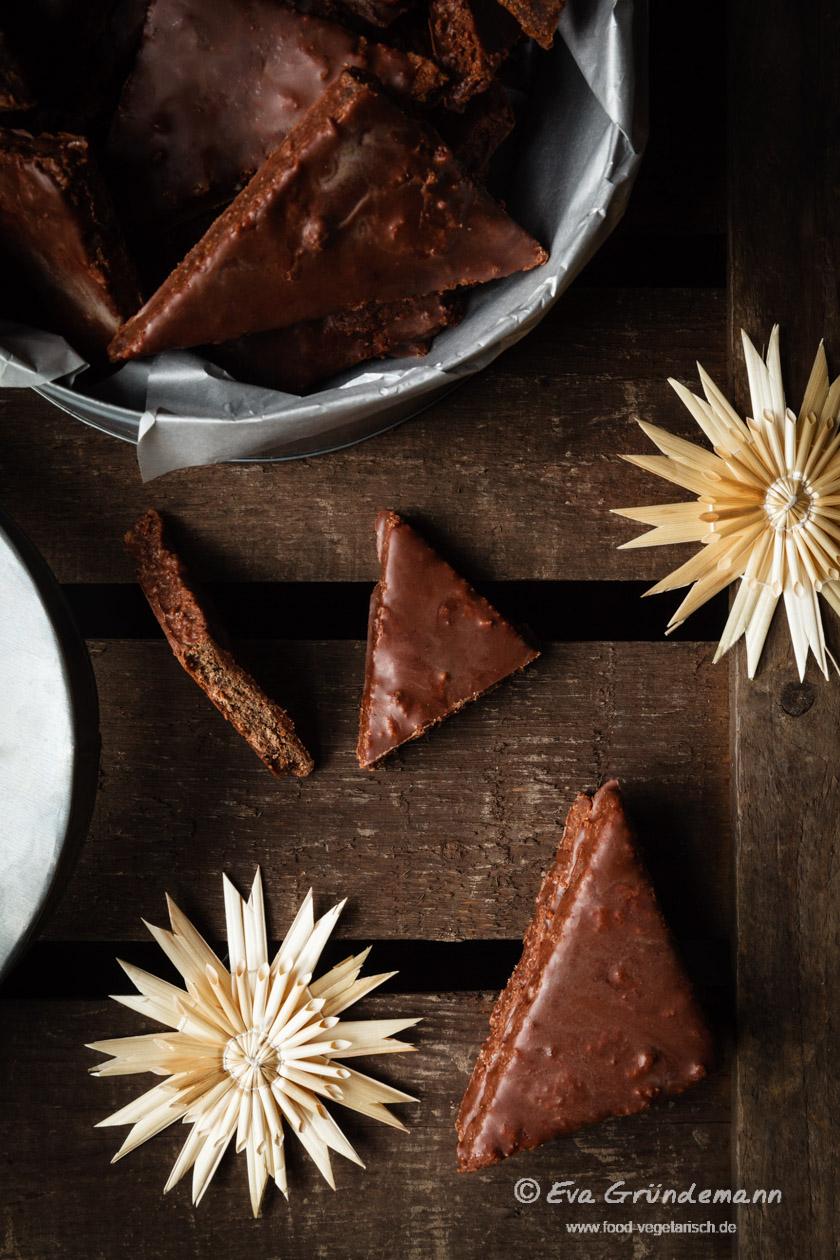 Lebkuchen mit Schoko-Glasur