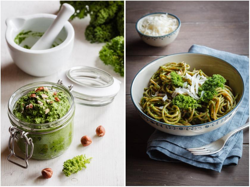 Grünkohl-Pesto mit Haselnüssen (S. 56)