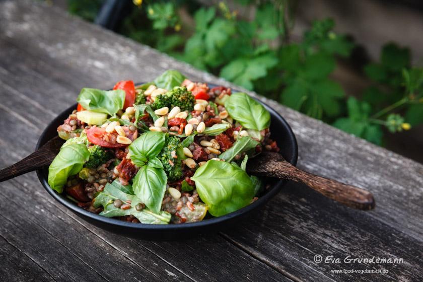 Roter Reissalat mit Linsen | FOOD VEGETARISCH