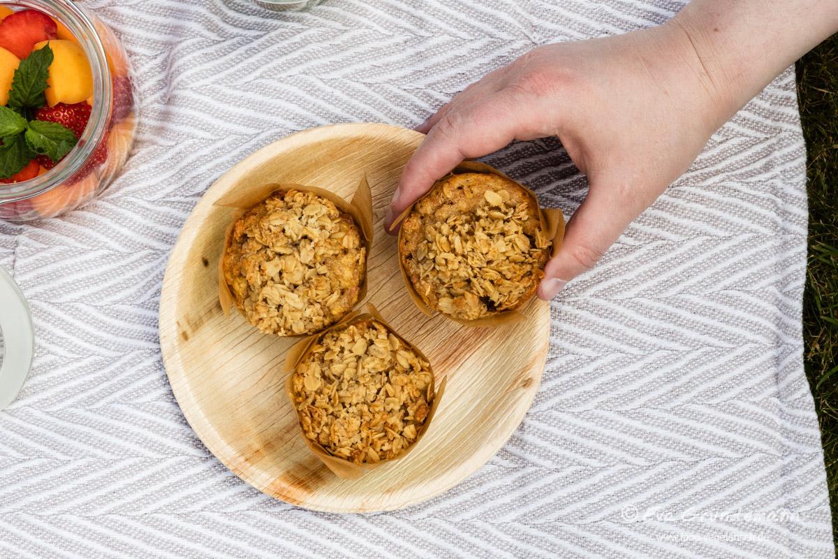 Apfel-Hafer-Muffins mit Streuseln | FOOD VEGETARISCH