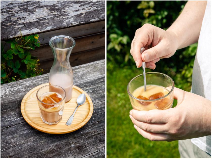 Eiskaffee mit Kokos-Reismilch