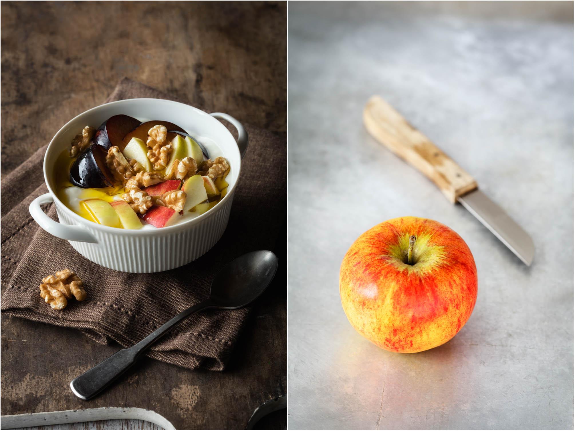 Quark mit Leinöl und Früchten