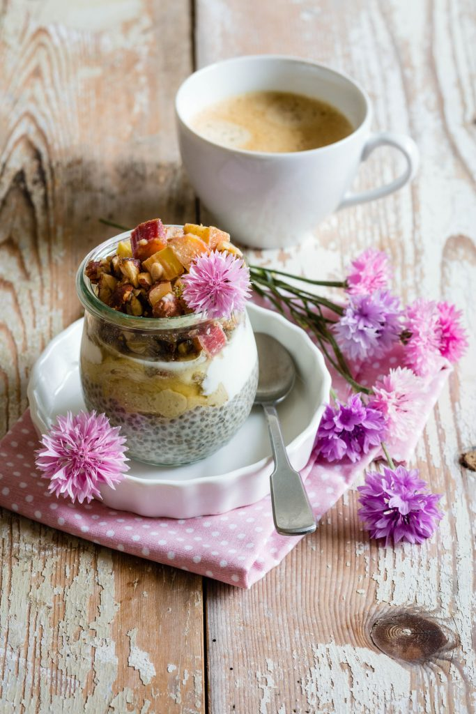 Rhabarber-Chia-Pudding